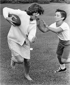 """""""386. Ask your mom to play. She won't let you win."""" Eunice Kennedy Shriver killin it in the family football game"""