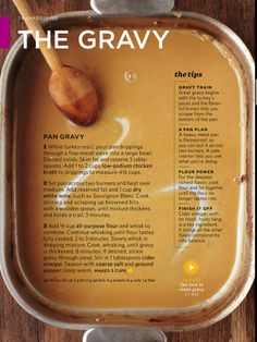"""Pan Gravy from Drippings Thanksgiving recipe ~ The gravy Source: Martha Stewart's """"Everyday Food"""" Magazine Thanksgiving Feast, Martha Stewart Thanksgiving, Canadian Thanksgiving, Traditional Thanksgiving Recipes, Thanksgiving Stuffing, Hosting Thanksgiving, Thanksgiving Activities, Thanksgiving Side Dishes, Thanksgiving Crafts"""