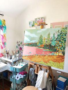 "Pleasant Lake, 30""x40"" landscape painting by Jennifer Allevato Art"