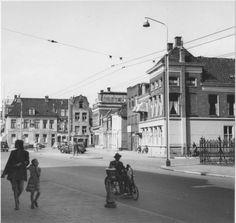 Groningen<br />De stad Groningen: De Rademarkt oostzijde ca 1955