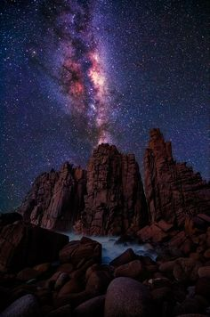 Milky Way Over Phillip Island in Victoria, Australia