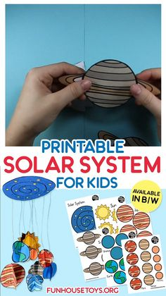 Great way to teach your child or your class about our Solar System Craft this easy solar system wit Planets Activities, Solar System Activities, Space Activities For Kids, Space Crafts For Kids, Solar System Crafts, Science For Kids, Toddler Activities, Planets Preschool, Solar System Worksheets