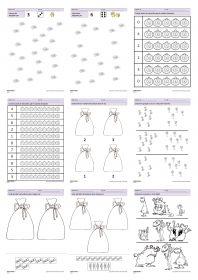 31 fiches d'exercices mathématiques pour la maternelle (PS - MS - GS) autour de la thématique d'Halloweens. Des exercices de numération, de discrimination visuelles, de partage ou encore de mesure de grandeurs.