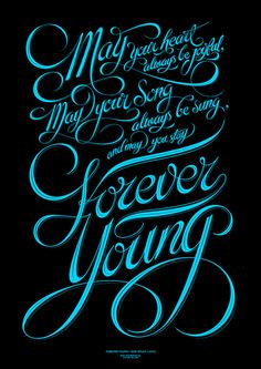 Not a huge fan of making lyrics into design posters but this is Bob Dylan, and the script is beautiful.