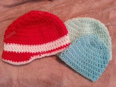 Free Crochet Pattern - Easy Peasy Baby / Infant Sized (6 to 12 Months) Double Crochet Beanie Hat Pattern