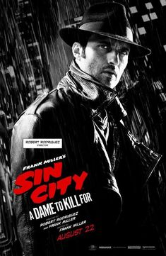 Look, @Rodriguez has got his own Sin City 2 one-sheet! And he's dressed up for the occasion...