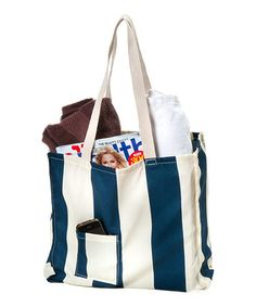 Love this Navy Cabana Tote on #zulily! #zulilyfinds