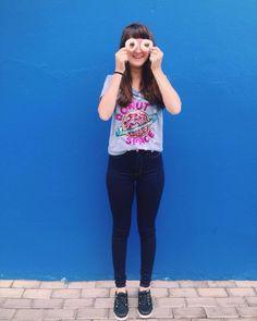 Rosquinhas @loja_amei, movidas por sorrisos💞 #lojaamei #tshirt #DONUT #jeans #novidades #tênisamei #etiquetaamei  #paetê #hotpant