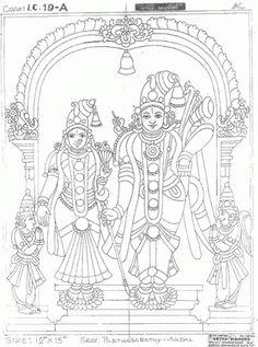 Mysore Painting, Kalamkari Painting, Kerala Mural Painting, Krishna Painting, Madhubani Painting, Indian Art Paintings, Krishna Art, Madhubani Art, Indian Folk Art