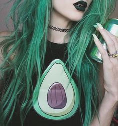 The amazing @jadethelibra in a custom mix of Phantom Green, Neon Moon, and Aquamarine