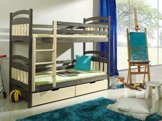 Pat etajat din lemn masiv de pin pentru copii Jakub #homedecor #interiordesign #inspiration #decoration #kidsroom Sleeping Pods, Pine Beds, Bunk Beds With Drawers, Double Beds, Bed Sizes, Types Of Wood, Upholstery, The Originals, Interior