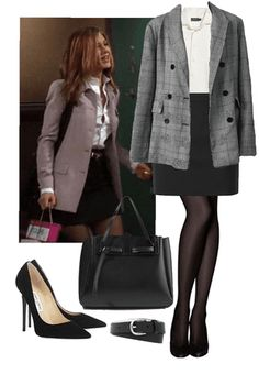 Discover outfit ideas for Dress Like Jennifer Aniston made with the shoplook outfit maker. How to wear ideas for Black Jimmy Choo Heels and % Rachel Green Outfits, Estilo Rachel Green, Rachel Green Style, Rachel Green Fashion, Rachel Zane Outfits, Retro Outfits, Cute Casual Outfits, Vintage Outfits, Chic Outfits