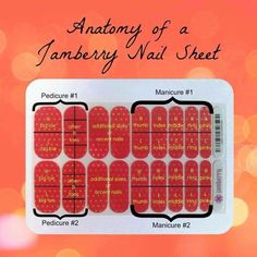What comes on a sheet of Jamberry Nail Wraps? 1 sheet is enough for at least 2 manis and 2 pedis plus additional accent nails.