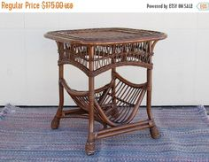 Hey, I found this really awesome Etsy listing at https://www.etsy.com/listing/224431018/rattan-reed-wicker-table-built-in