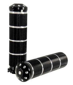 Black Billet Aluminum Grip Set For Harley Davidson Throttle Cables Models (NEW)  #MidUSA