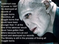 Why I'm not going to Hogwarts this September. Stoopit Voldy.