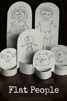 Easy, Homemade Paper Doll Family