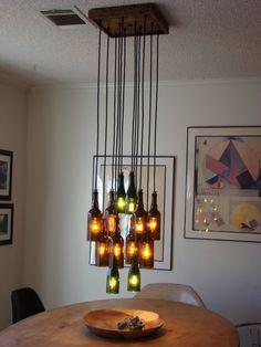 Ten Light Ceiling Mount Upgrade by glow828 on Etsy.......basement idea