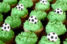 Soccer cupcakes.  cute!  Blog | Jenny Cookies - Part 19
