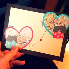 Card for a Long Distance Love | Musings from Providence #diy #stationary #holidaycard