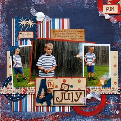 4th of july scrapbook pages - Google Search