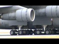 C-5 Galaxy screaming takeoff at Abbotsford Airport