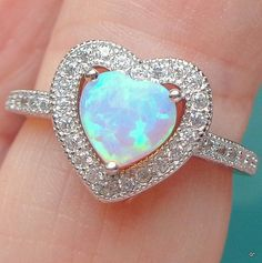 Sz 5 Heart Shaped Pink Opal Sterling Silver by JanesGemCreations Pinky Promise Ring, Heart Promise Rings, Heart Engagement Rings, Engagement Ring Sizes, Heart Ring, Opal Jewelry, Heart Jewelry, Cute Jewelry, Jewlery