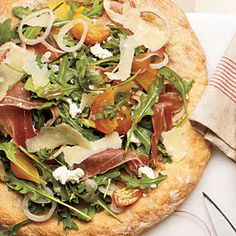 Beet Salad Pizza by cookinglight #Beet #Pizza #cookinglight