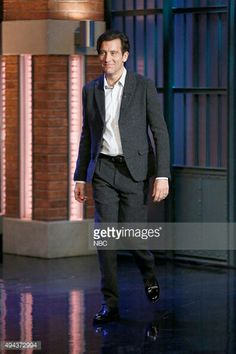 Clive owen the late night tv show the knick  season 2 old times nyc oct 2015 ...classy