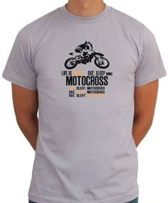 Life Is Simple... Eat, Sleep And Motocross T-Shirt