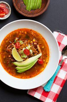 Tortilla Soup w. Chiles + Charred Corn