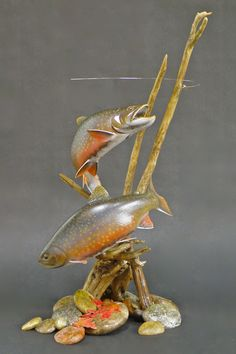 Lona Hymas Smith Truly An Inspiration Lona Hymas Smith Truly An Inspiration Fish Wood Carving, Dremel Wood Carving, Wood Carvings, Fish Sculpture, Wood Sculpture, Fish Mounts, Trout Fishing, Fly Fishing, Intarsia Wood