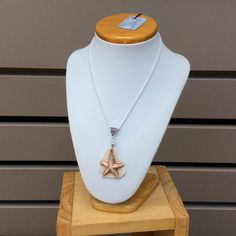 Red brown Starfish porcelain stoneware necklace with mother of pearl lustre. by simonesceramics on Etsy