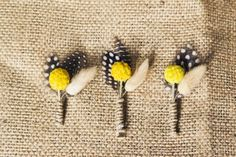 DIY billy ball boutonnieres