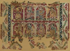Fragments of a Wall Hanging with Figures in Elaborate Dress | The Met