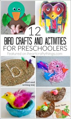 12 Bird Crafts and Activities for Preschoolers and older kids, perfect for Spring