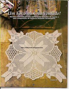 """Crochet Mania e dipinto"" Crochet Patterns Filet, Crochet Doily Diagram, Crochet Diy, Crochet Lace Edging, Crochet Books, Crochet Chart, Crochet Home, Thread Crochet, Vintage Crochet"