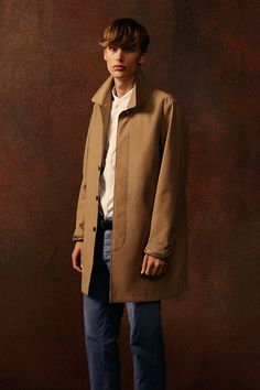 A classic camel mac never goes out of style, and works with casual and smart looks. #newlook #menswear