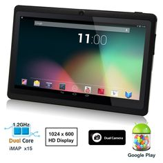 Dragon Touch® 7'' Dual Core Y88 Google Android 4.1 Tablet PC, Dual Camera, HD 1024x600, Google Play Pre-load, HDMI