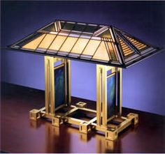 Frank Lloyd Wright lamp. The Dana-Thomas House, Springfield, IL