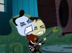 Frank & Len tocando guitarra