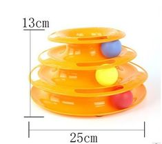 Blue Orange Three Levels Tower Tracks Disc Cat Toy Amusement Shelf Play Station For Cat Catnip Toys, Pet Toys, 3 Balls, Blue Orange, Funny Cats, Pet Supplies, Healthy Lifestyle, Dog Cat, Pets
