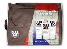Bulldog's upcoming Grooming Kit For Men. Perfect for Father's Day! Cosmetic Sets, Grooming Kit, Fathers Day, Messenger Bag, Satchel, Flag, Cosmetics, Men, Father's Day