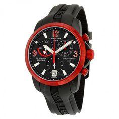 Certina DS Podium Chronograph Black Dial Aluminum Black Rubber Men's Watch C0016399705702 Sport Watches, Watches For Men, Red Watches, Black Rubber, Casio Watch, Quartz Watch, Chronograph, Omega Watch, Ds