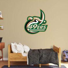 Fathead NCAA North Carolina Charlotte 49ers Logo Wall Decal - 61-61730