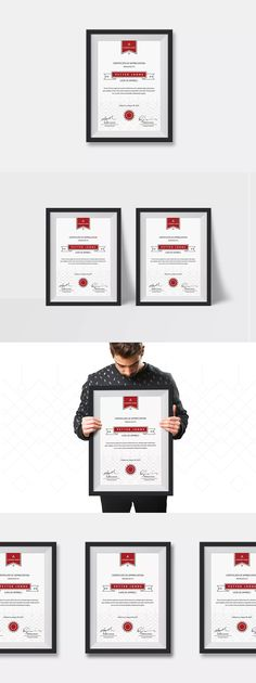Simple Certificates by silukEight on Envato Elements Certificate Templates, Letter Size, A4, Lettering, Simple, Drawing Letters, Brush Lettering