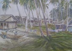 Fishing village ( Donny Prawira and his bad watercolor arts )