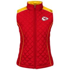 Kansas City Chiefs Scramble Quilted Vest - Women's $36.00