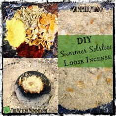DIY Summer Solstice Loose Incense: Recipe & FREE Summer Magick workshop at http://www.facebook.com/feathergardenbelle