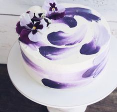 Wedding Cakes - why not acquire this creative tips, pin ref 6635584914 here. Small Wedding Cakes, Purple Wedding Cakes, Amazing Wedding Cakes, Amazing Cakes, Pretty Cakes, Cute Cakes, Beautiful Cakes, Girly Cakes, Fancy Cakes